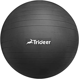 Trideer バランスボール 45/55/65/75cm(11色)厚い 耐荷重500KG アンチバースト 滑り止め フットポンプ付き ヨガボール ピラティスボール 筋トレストレッチ ダイエット ヨガ 椅子 腰痛防止 関節保護