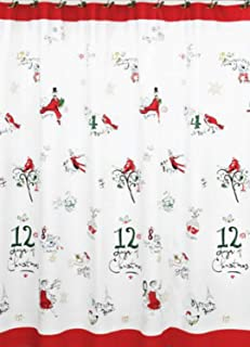 Lenox American By Design 12 Days of Christmas Shower Curtain 72