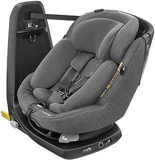 Maxi-Cosi Axissfix Plus Silla de coche giratoria 360° isofix, silla auto reclinable y contramarcha, con reductor bebé recién nacido, 0 meses - 4 años, color sparkling grey