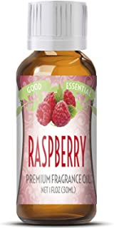 Raspberry Scented Oil by Good Essential (Huge 1oz Bottle - Premium Grade Fragrance Oil) - Perfect for Aromatherapy, Soaps, Candles, Slime, Lotions, and More!