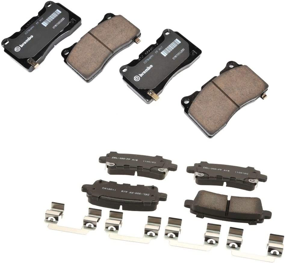 Front Rear Brake Pad Sets Kit XTS Cadillac Max 48% specialty shop OFF Platinum Luxury For