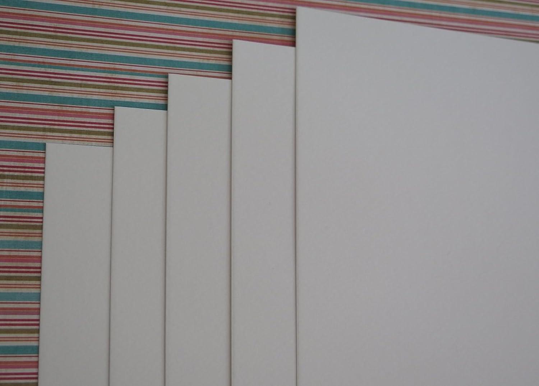 40 x A6 Watercolour Card Smooth Weiß 300gsm AM765 B01MTLQV3R  | Lebhaft