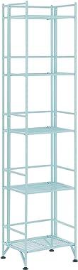 Convenience Concepts Xtra Storage 5-Tier Folding Metal Shelf, Seafoam