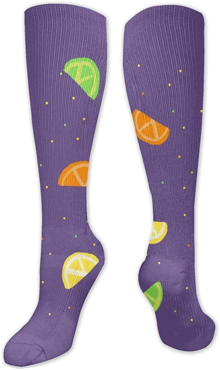 Cute Colored Lemon Knee High Socks Leg Warmer Dresses Long Boot Stockings For Womens Cosplay Daily Wear