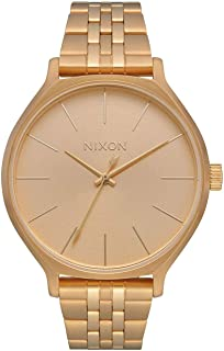 NIXON Clique A1249-50m Water Resistant Women's Analog Classic Watch (38mm Watch Face, 17mm-15mm Stainless Steel Band)