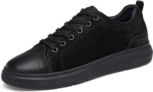 chaussures house Cuir Cross Trainer Anti-dérapant Anti-dérapant Anti-dérapant Bas-Cou paniers noir Lace-up Oxford Taille 37-44,noir,EU37 US5.5(M) UK4.5 074