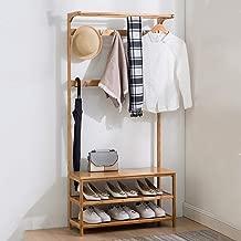 XXHDEE Simple Hall Shoe Coat Coat Rack Floor Shoe Rack Hanger Combination Shoe Bench Living Room Hanger, 50/60/70/80 / 90cm X Width 31cm X Height 170cm. Coat Rack (Size : M: 60cm)