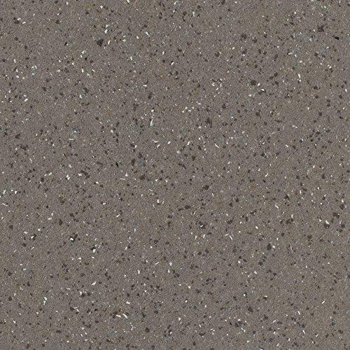 BODENMEISTER BM70569 Vinylboden PVC Bodenbelag Meterware 200, 300, 400 cm breit, Steinoptik Chip hell-grau