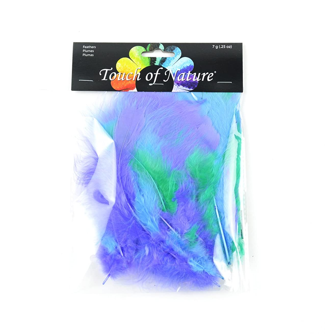 Touch of Nature 37106 Turkey Feathers Fluffy Mix, (Pack of 1), 7 g, Seafoam/Cornflower