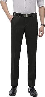 American-Elm Slim Fit Cotton Black Formal Pant for Men | Black Trouser for Daily Office
