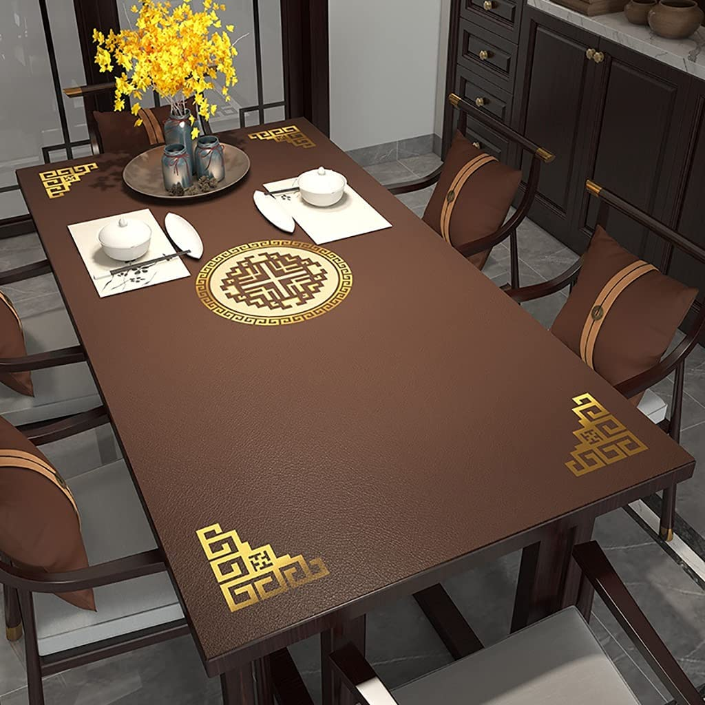 Sales of SALE items from new works yxx Leather Table Challenge the lowest price Pad Protector Chinese Mat Elegant Cover