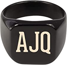 Molandra Products AJQ - Adult Initials Stainless Steel Ring