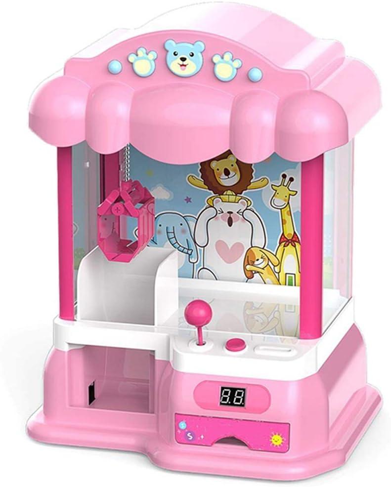 SuDeLLong El Juguete de la Garra Que Funcionan con Monedas de niños Clip muñeca de Juguete máquina pequeña Mini Inicio acaparamiento de Juego (Color : Photo Color, Size : 40x30x35cm)