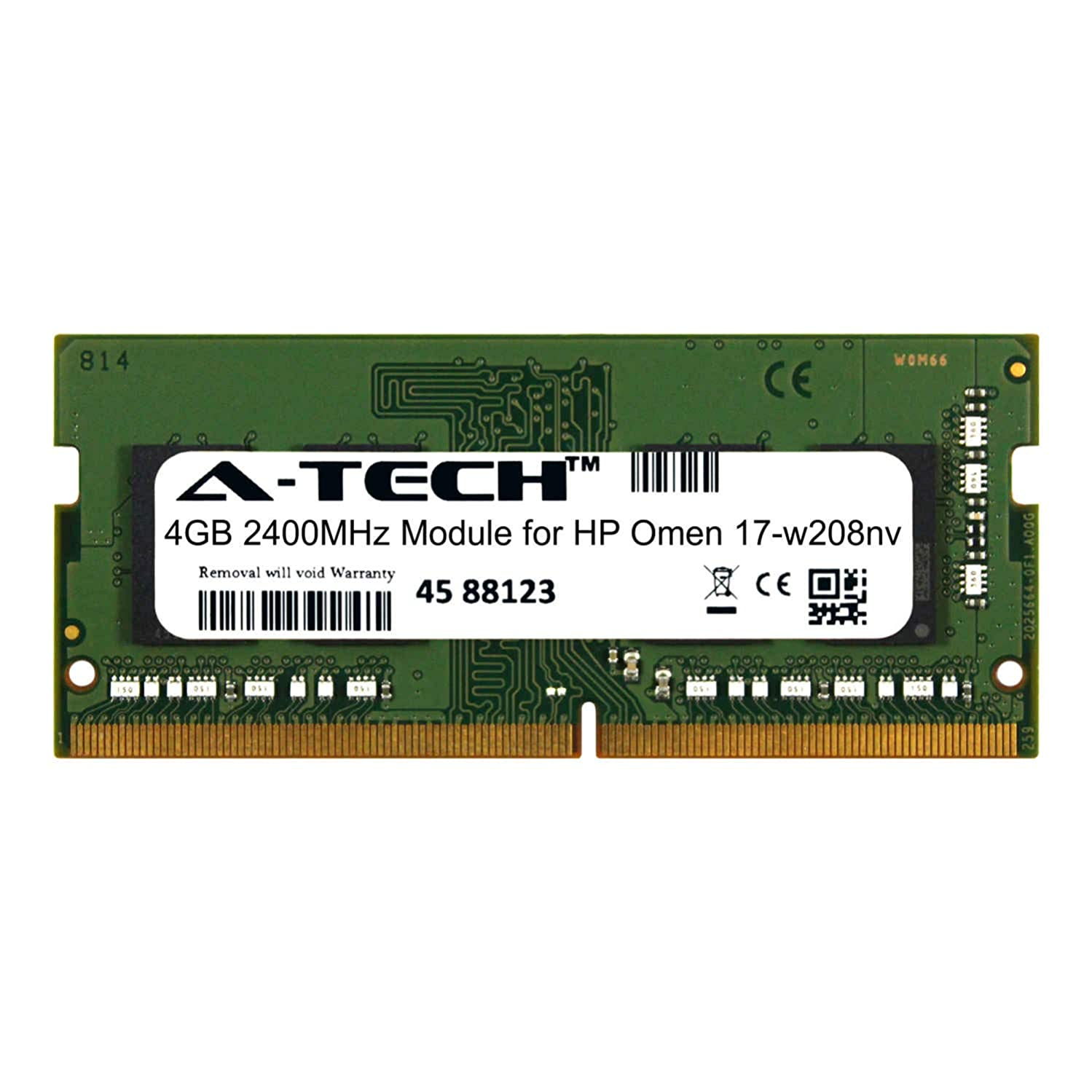 A-Tech 4GB Module for HP Omen 17-w208nv Laptop & Notebook Compatible DDR4 2400Mhz Memory Ram (ATMS281664A25824X1)