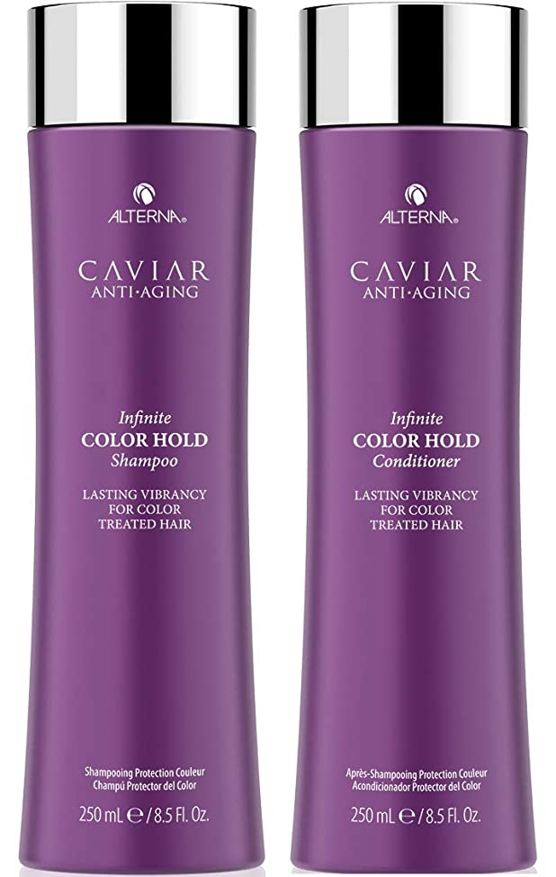 CAVIAR Anti-Aging Infinite Color Hold Shampoo and Conditioner Set, 8.5-Ounce