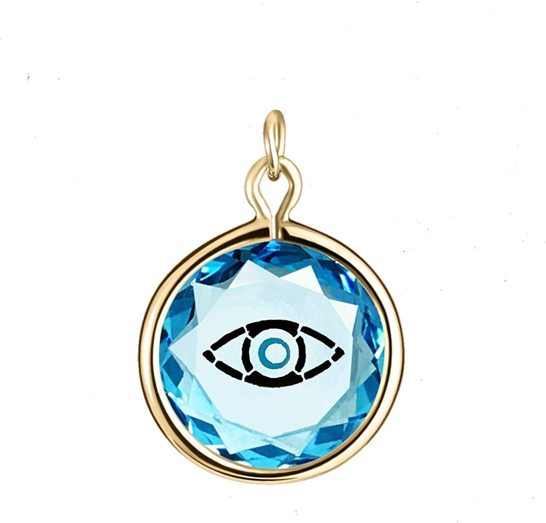 LovePendants Charm in Blue Swarovski Albuquerque Mall E Black with Max 71% OFF Crystal