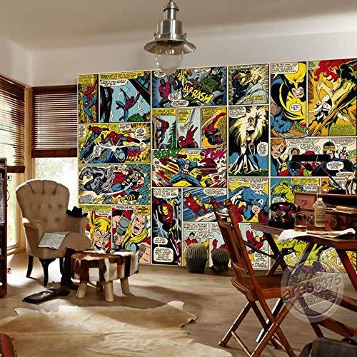 Marvel Comics - Papel pintado 3D personalizado para pared con diseño de Capitán América para dormitorio de niños, oficina, tienda, decoración de habitación Hulk