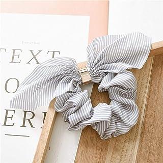 YJXUSHYQ Cute Rabbit Endoscope Striped Hair Accessories Elastic Hair Band Headwear Hair Rope for Women Girls Rubber Band T...