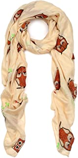Premium Night Owl Print Fashion Scarf Wrap- Different Colors Available