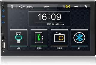 7インチダブルディンブルートゥースカーステレオレシーバー デジタルフルタッチスクリーンシステム MP5プレーヤー FMラジオ ステアリングホイールコントロールとバックカメラ入力をサポート カメラなし