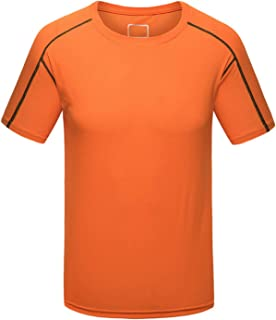 Quick-Dry Tops, Summer Casual Mens Fitness Bodybuilding Short Sleeve Running T Shirt Sports Tops Skin Tight Quick Dry