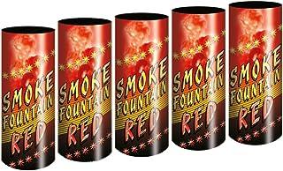 5 Stück h2i Bengalo Rauch Vulkan Fontäne Party Feuerwerk Rauchfarbe rot/Ganzjahresfeuerwerk Kat T1/F1