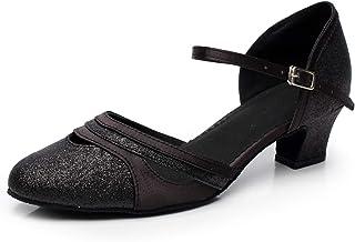 Naudamp Femmes Chaussures De Danse Latines Confortables Chaussures De Danse Latine Salsa Chaussures De Soirée