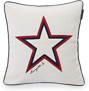Lexington Star Funda cojín, Blanco, 50 x 50 cm