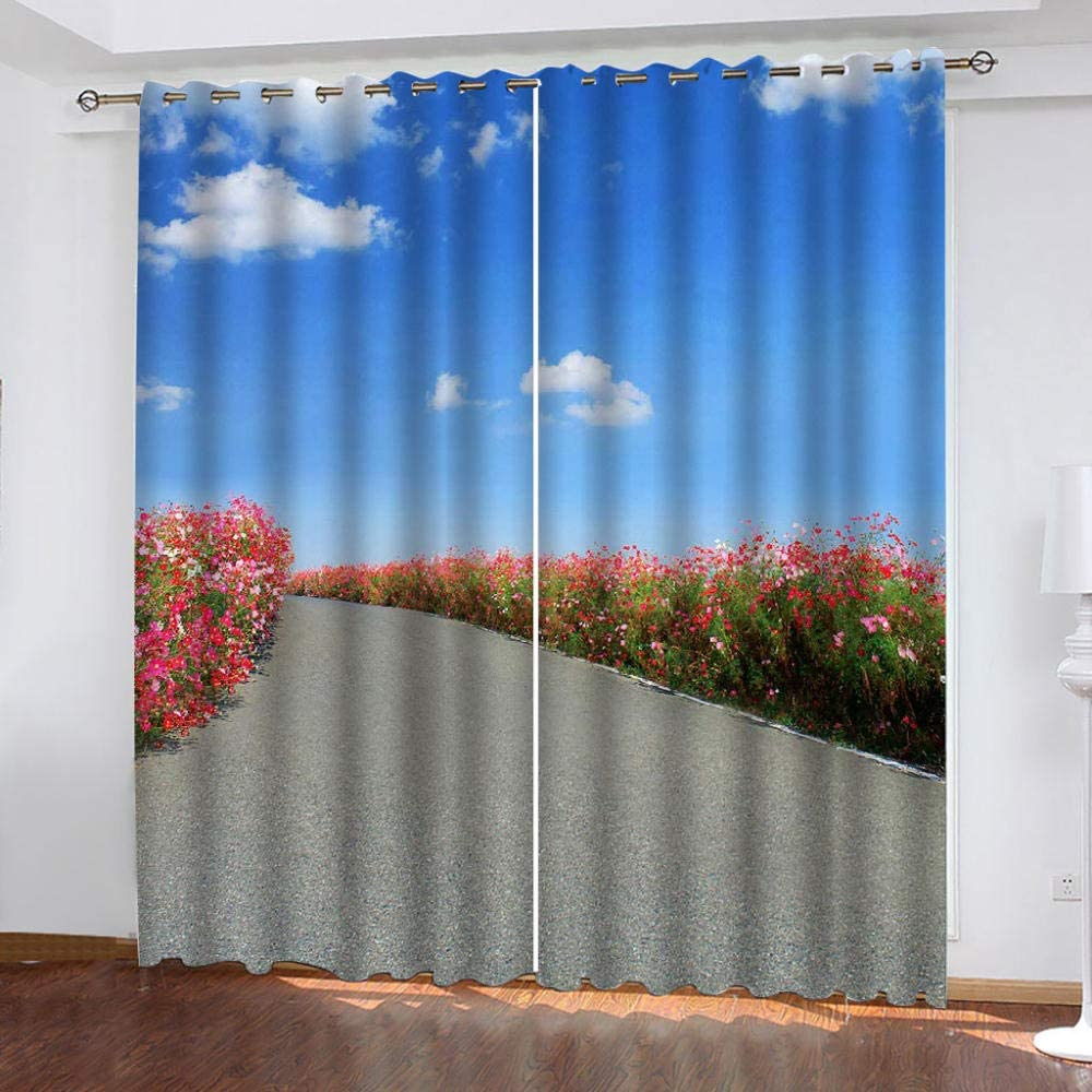 Blackout 2021 model Window Curtain Panels Lace Insulation Thermal for Path Trust
