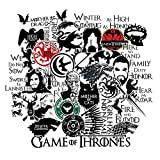 S-003 46pcs Game of Thrones Season 8 Stickers 2 Sheets/Pack MacBook Pro Vinyl Stickers MacBook Air Stickers for Water Bottles Hydro Flask Stickers Vsco Stickers Laptop Stickers