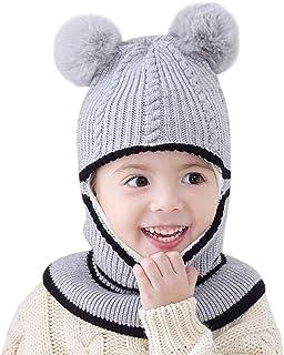 d312809d144 bebé Sombrero y Bufandas y Manoplas de Punto BBsmile Recién Nacido Niños  Bebe Chico Chica Sombrero