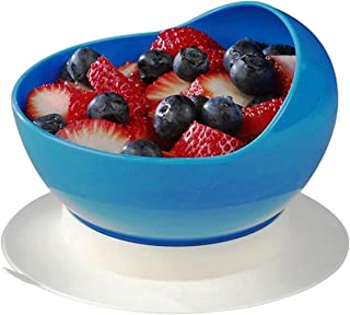 Maddak Ableware Scooper Bowl with Suction Cup Base, Blue