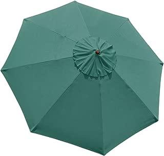 Yescom 10' Umbrella Replacement Cover Top 8 Rib Deck Outdoor Canopy Garden Beach Patio Pool Color Optional