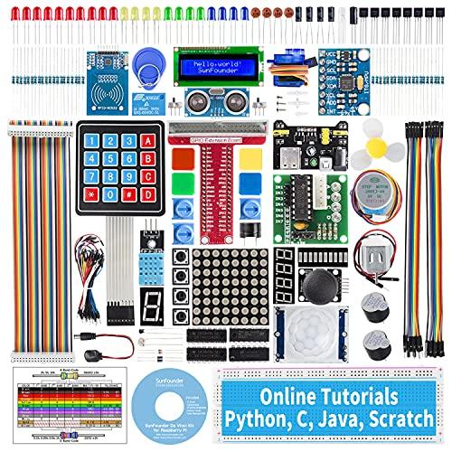 SunFounder Raspberry pi スターター電子工作キット, ラズパイプログラミング, 日本語説明書400+ページ詳細な教本と豊富な学習用レッスン付き, Raspberry pi 4B/3B+/3B/400/3A+/2B/1B+/1A+/Zero W/Zero に対応、C/Pythonコードをサポート(※Raspberry Piメインボードは含まれていません)