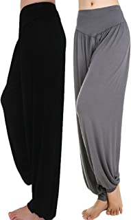 Womens' Solid Color Soft Elastic Waistband Fitness Yoga Harem Pants