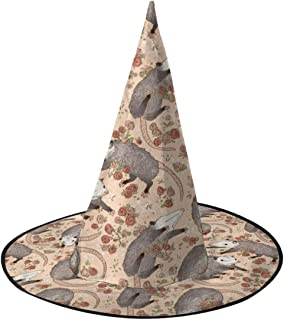 Witch Hat Befuddled Possums 3D Print Pattern Halloween Costume Cosplay Party Costume