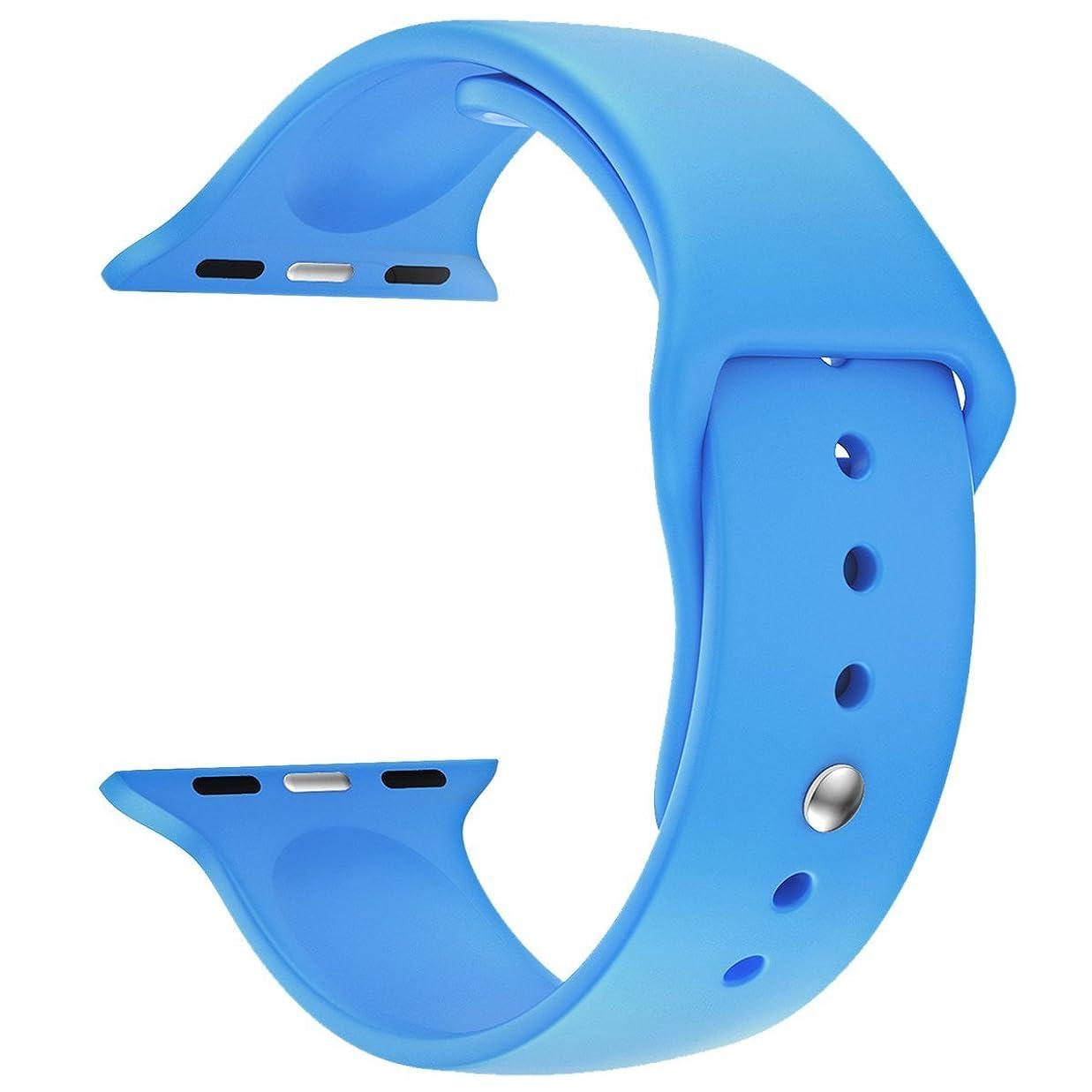 出血運ぶホースBAB? 38mm 42mm iwatchベルト 時計バンド 腕時計ベルトアップルウォッチ スポーツバンド ソフト 高級感 シリコーン 製 交換ベルト