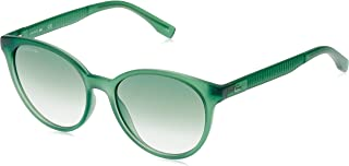 Lacoste Round Sport Inspired Transparent Green Sunglasses For Women 54-17-140mm