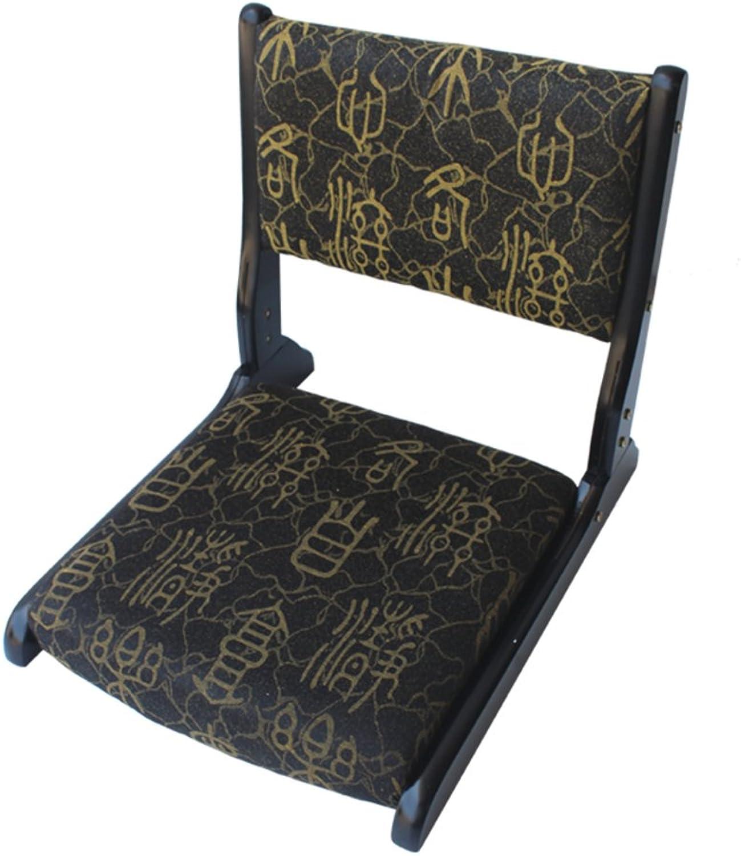 Denzihx Meditation Tatami mats Floor Chair,Folding Natural Materials [Japanese-Style] Bamboo Floating Window Chair-M