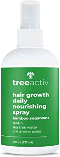TreeActiv Hair Growth Daily Nourishing Spray Natural Leave in Conditioner Anti Frizz Reduce Curly Frizzy Hair Argan Oil Bi...
