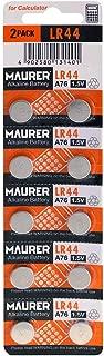 Maxell LR44 Alkaline 1.5V Battery, 2-Pack
