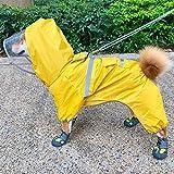 MDKAZ Clothes for Pets Dog Raincoat Clothing Dog Rain Jacket Jumpsuit French Bulldog Clothes Welsh Dog Costume Shiba Inu Pet Gift-M