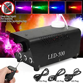 Stage Accessories Effect Machines Fog MachineSmoke Machine7 Color LED Lights Portable 500W Smoke Machine with Wireless Rem...