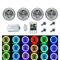 OCTANE LIGHTING 5-3/4 RGB SMD Multi-color White Red Blue Green LED Halo Angel Eye Headlights Set