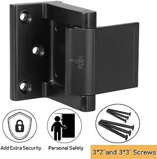 Home Security Door Lock,Child Proof Door Reinforcement Lock with 3''Screws for Inward Swinging Door, Privacy Door Lock Deadbolt Defend Home and Hotels