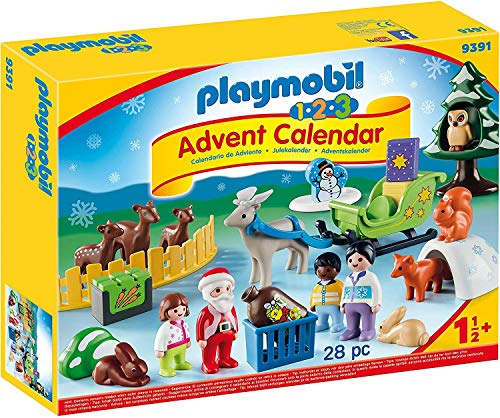 Playmobil - Calendrier Avent 1.2.3 Père Noël Animaux Forêt -