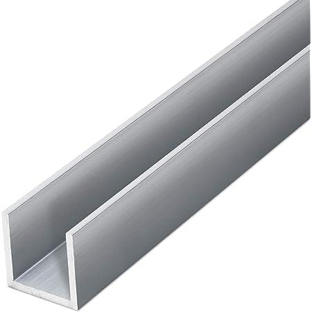 L/änge: 2000 mm Alu Profil Schiene EN AW-6060 in 40 x 40 x 40 x 2 mm thyssenkrupp U-Profil aus Aluminium gepresst