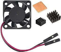 Easycargo Raspberry Pi Heatsink Fan Kit for Cooling Cooler Raspberry Pi 3B+, 3B, Pi 2, Pi Model B+ (Black 1 Pack)