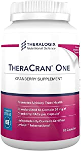 TheraCran One Cranberry Supplement | 36mg PACs Per Capsule | Cranberry Extract, Supports Urinary Tract Health | 90 Day Supply