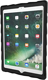 Gumdrop DropTech Clear Case Designed for the Apple iPad 9.7 (6th Gen and 5th Gen) Tablet for K-12 Students, Teachers, Kids - Black/Red, Shock Absorbing, Rugged, Extreme Drop Protection
